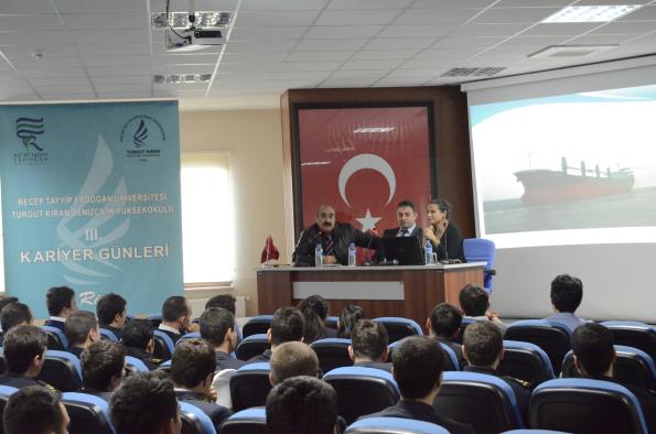 Akmar Denizcilik Özge Ataman, Tarık Gürsoy ve Cavit Bilgin Turgut Kıran Denizcilik Yüksekokulu'nda İdi.