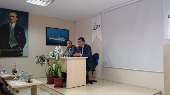 CBM Liman Hizmetleri Şirket Sahibi Metin Öngel ve LİMAŞ Konteyner Terminali Müdürü Uğur Kılıç