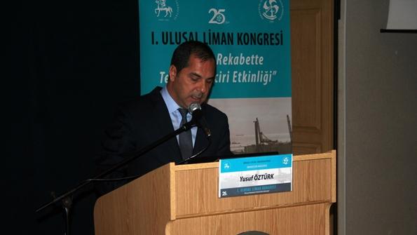 Deniz Ticaret Odası Yönetim Kurulu Başkanı Sayın Yusuf ÖZTÜRK Konuşmasını yaparken
