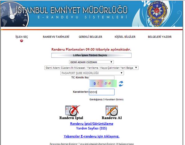 Polis Vizesi Randevu Sistemi - 3