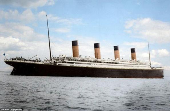 Siyah&Beyaz Titanic 'in Renklendirilmesi 11