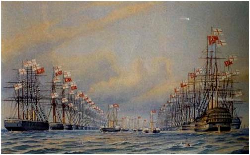 """""""Sultan Abdülaziz'in Londra'da Karşılanışı"""" İstanbul Deniz Müzesi"""