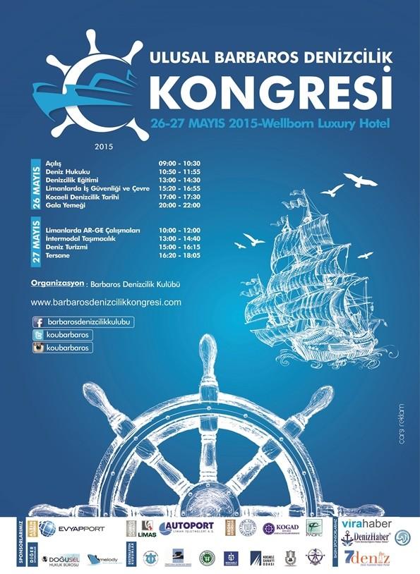 Ulusal Barbaros Denizcilik Kongresi Afiş