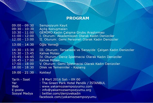 Yakamoz Sempozyumu Program