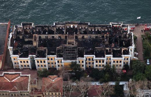 Yangın Sonrası Galatasaray Üniversitesi