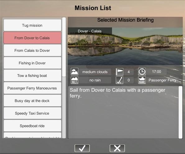 mission list